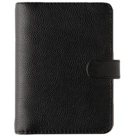 Organiseur OBERTHUR 17 GRACETOWN en cuir de vachette couleur noir - format 14x18,5cm