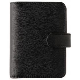 Organiseur OBERTHUR 13 GRACETOWN en cuir de vachette couleur noir - format 10,5x14,5cm