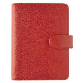 Organiseur OBERTHUR 13 GRACETOWN en cuir de vachette couleur rouge - format 10,5x14,5cm