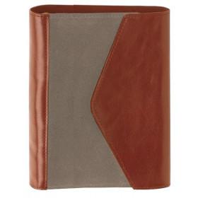 Organiseur OBERTHUR 13 READING en cuir de vachette couleur fauve - format 10,5x14,5cm