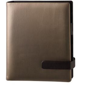 Organiseur OBERTHUR 21 ALTON en pu lisse bicolore couleur bronze - format 19x23cm