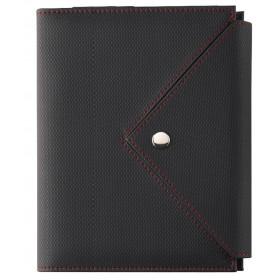 Organiseur OBERTHUR 21 ASCOT en PU couleur noir/rouge - format 19x23cm