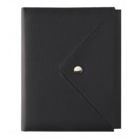 Organiseur OBERTHUR 13 ASCOT en PU couleur noir/gris - format 10,5x14,5cm