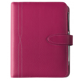 Organiseur OBERTHUR 21 KAARINA en PU couleur rose - format 19x23cm