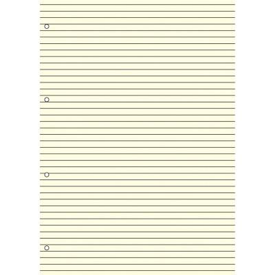 Recharge bloc-note lignés 30 feuillets ivoires pour organiseur OBERTHUR 30 - format 21x29,7cm