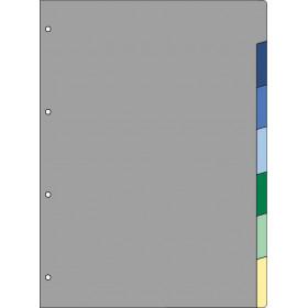 Recharge 7 intercalaires pour organiseur OBERTHUR 30 - format 21x29,7cm
