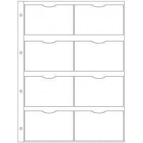 Recharge 3 étuis porte-carte de visite pour organiseur OBERTHUR 30 - format 21x29,7cm