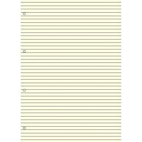 Recharge bloc-note lignés 40 feuillets ivoires pour organiseur OBERTHUR 21 - format 15x21cm