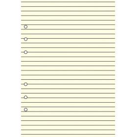 Recharge bloc-note lignés 30 feuillets ivoires pour organiseur OBERTHUR 21 - format 15x21cm