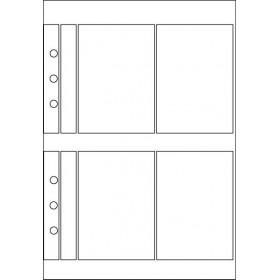 Recharge 3 étuis porte-carte de visite pour organiseur OBERTHUR 21 - format 15x21cm