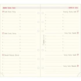 Recharge pour organiseur OBERTHUR 17 - 10x17cm - 1 semaine sur 2 pages horizontal