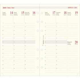 Recharge pour organiseur OBERTHUR 17 - 10x17cm - 1 semaine sur 2 pages verticale