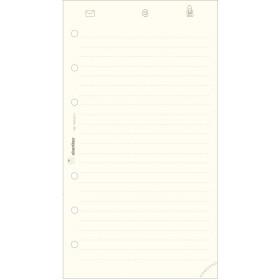 Recharge répertoire 30 feuillets ivoires pour organiseur OBERTHUR 17 - format 10x17cm
