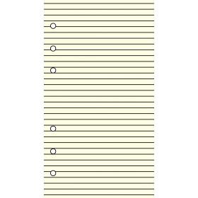 Recharge bloc-note lignés 30 feuillets ivoires pour organiseur OBERTHUR 17 - format 10x17cm