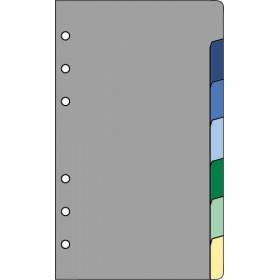 Recharge 7 intercalaires pour organiseur OBERTHUR 17 - format 10x17cm