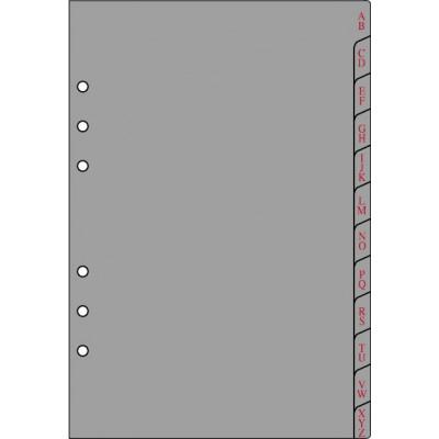 Recharge 12 intercalaires alphabétiques pour organiseur OBERTHUR 17 - format 10x17cm