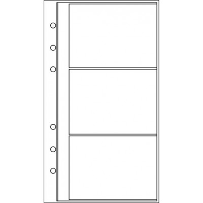 Recharge 3 étuis porte-carte de visite pour organiseur OBERTHUR 17 - format 10x17cm