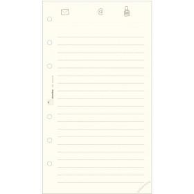 Recharge répertoire 30 feuillets ivoires pour organiseur OBERTHUR 13 - format 8x13cm