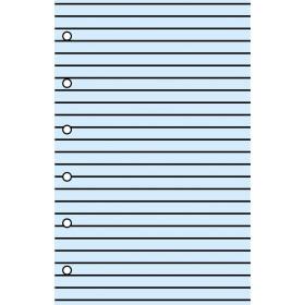 Recharge 30 feuillets livoires ignés bleu pour organiseur OBERTHUR 13 - format 8x13cm