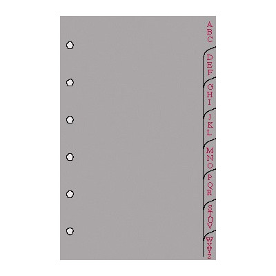 Recharge 8 intercalaires alphabétiques pour organiseur OBERTHUR 13 - format 8x13cm