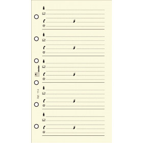 Recharge répertoire 30 feuillets ivoires pour organiseur OBERTHUR 10 - format 6,7x10,5cm
