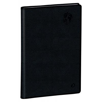 Agenda QUOVADIS RANDONNEE Recyclé noir - 9x12,5cm - 1 semaine sur 2 pages