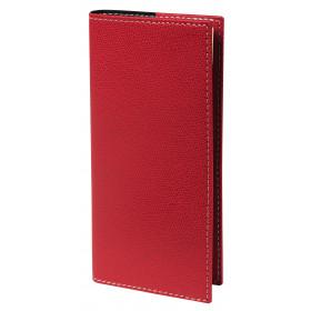 Agenda QUOVADIS PLANORIZON - Club rouge cerise - 8,8x17cm - 1 semaine sur 2 pages + répertoire