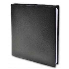 Agenda QUOVADIS NOTE 16 S à spirale - Impala noir - 16x16cm - 1 semaine sur 2 pages + répertoire