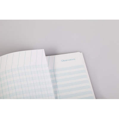 Cahier de bord CLAIRFONTAINE - 21x29,7cm couverture rigide - 48 pages - 7 classes