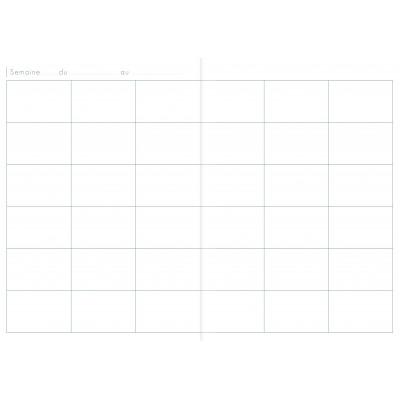 Agenda de bord CLAIRFONTAINE - 21x29,7cm 6 colonnes (36 cases/semaine) 72 pages