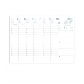 Agenda ECO - 21x29,7cm - SATURNE ML Alpha noir - 1 semaine sur 2 pages