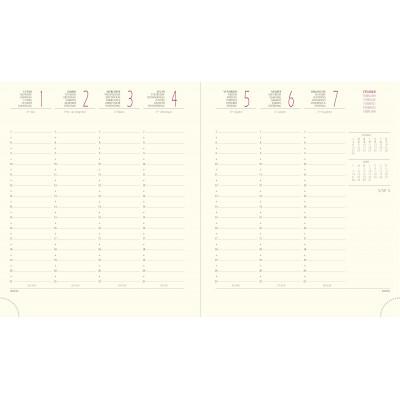 Agenda EXACOMPTA Interieur de rechange de bureau Eurotime 18 -  - 170x150mm