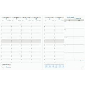 Agenda EXACOMPTA Intérieur de rechange de semainier de bureau Horizons 27 - - 270x210mm