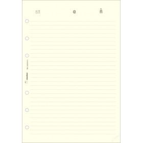 Recharge répertoire 30 feuillets ivoires pour organiseur OBERTHUR 21 - format 15x21cm