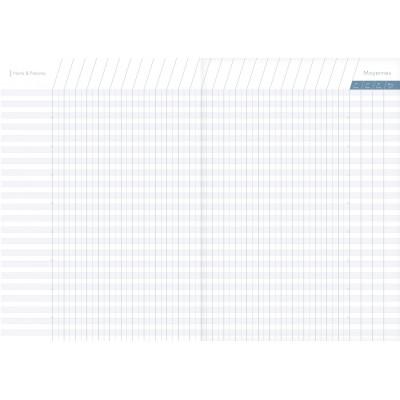 Agenda de bord CLAIRFONTAINE 6 colonnes - 21x29,7cm - couverture souple - 144 pages