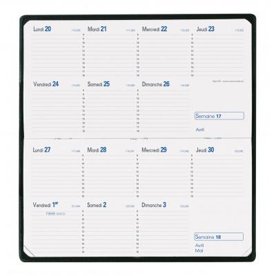 Agenda QUOVADIS Sept-bi 8,8 x 17 cm - 1 semaine sur 2 pages