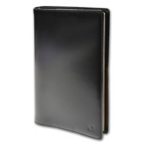 Agenda QUOVADIS PRESIDENT avec répertoire avec tranche dorée couverture Luna noir ébène 21x27cm - 1 semaine sur 2 pages