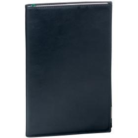 Agenda QUOVADIS PRESIDENT Prestige avec répertoire couverture Montebello noir 21x27cm - 1 semaine sur 2 pages