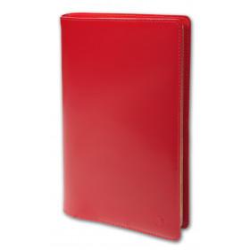 Agenda QUOVADIS MINISTRE avec répertoire avec tranche dorée couverture Luna rouge dali 16x24cm - 1 semaine sur 2 pages