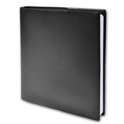 Agenda QUOVADIS EXECUTIF avec répertoire couverture Impala noir 16x16cm - 1 semaine sur 2 pages