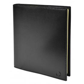 Agenda QUOVADIS EXECUTIF Prestige S avec répertoire couverture Soho noir ébène 16x16cm - 1 semaine sur 2 pages