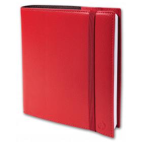 Agenda QUOVADIS TIME&LIFE MEDIUM avec répertoire rouge cerise 16x16cm - 1 semaine sur 2 pages