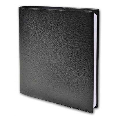 Agenda QUOVADIS DIRECTION avec répertoire couverture Impala noir 24x24cm - 1 semaine sur 2 pages