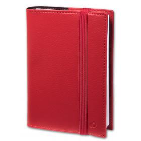 Agenda de poche QUOVADIS TIME&LIFE POCKET avec répertoire rouge cerise 10x15cm - 1 semaine sur 2 pages