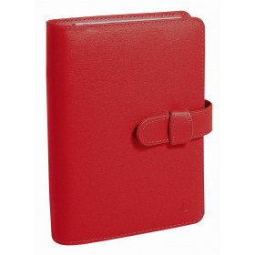 Agenda organiseur QUOVADIS - TIMER 17 PLANING couverture Soho rouge dali - 10x17cm