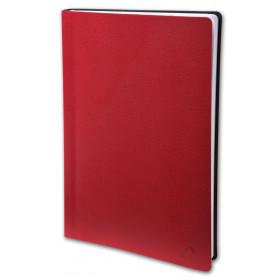 Agenda QUOVADIS Textagenda 12 x 17 cm - 1 jour par page couverture Toscana Rouge