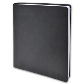 Agenda QUOVADIS Executif 16 x 16 cm - 1 semaine sur 2 pages couverture Toscana Noir