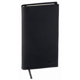 Agenda de poche QUOVADIS ITALNOTE avec répertoire couverture Montebello noir 8,8x17cm - 1 semaine sur 2 pages