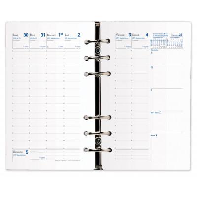 Recharge QUOVADIS Timer 17 Planing 10 x 17 cm janvier - décembre + supplément septembre à décembre 16mois