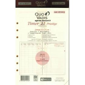 Recharge agenda QUOVADIS Timer 21 prestige 15 x 21cm janvier - décembre + supplément septembre à décembre